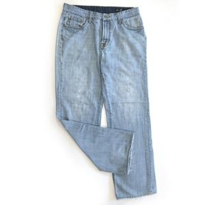 Seven7 Premium Straight Leg Jeans Light Wash